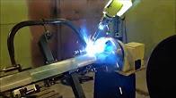 Сварочный робот на заводе ТеплоТрейд